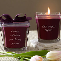 Personalized For My Love Mulberry Candle