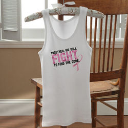 Personalized Pink Ribbon Breast Cancer Awareness Tank Top
