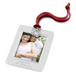Butterfly Charm Photo Picture Frame Christmas Ornament
