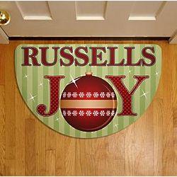 Personalized Christmas Joy Half Round Doormat