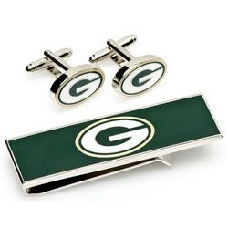 Green Bay Packers Cufflinks and Money Clip