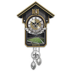 New Orleans Saints Championship Tribute Cuckoo Clock