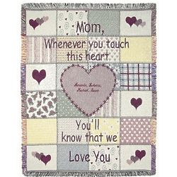 Personalized Mother Patchwork Heart Throw