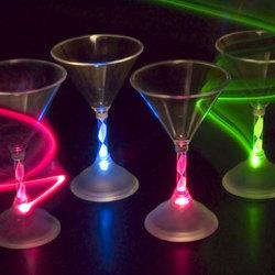 Light-up Martini Glass Set