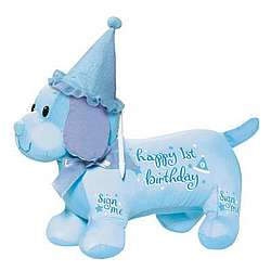 Baby's 1st Birthday Autograph Hound in Blue