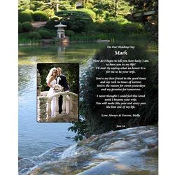 Bride to Groom Personalized Wedding Poem
