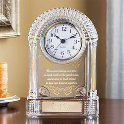 Personalised Clock Wedding Gift India : Crystal Wedding Anniversary Clock - FindGift.com