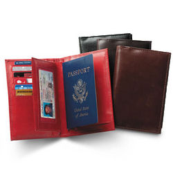 Nappa Leather RFID Shield Passport Wallet