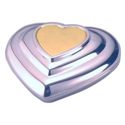 Personalized Two Tone Heart Compact