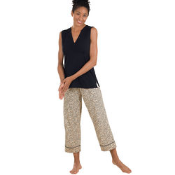 Leopard Lounge Capris Set