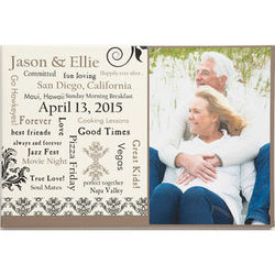 Our Life Together Personalized Wedding/Anniversary Photo Canvas
