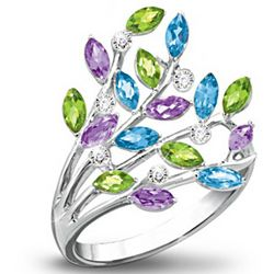 Bouquet of Gems Diamond Ring