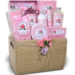Tea Rose Delights Spa Gift Basket