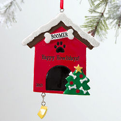 Personalized Doghouse Christmas Ornament