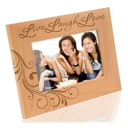 Live Laugh Love Wooden Picture Frame