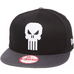Punisher Hero Bit Black Snapback Hat