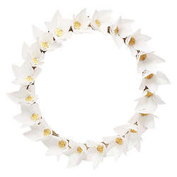 Paper Flower Wreath of Wishes