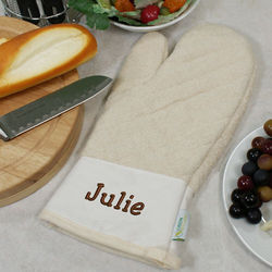 Embroidered Any Name Organic Oven Mitt