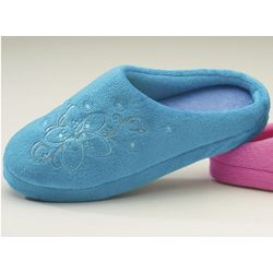 Women's Embroidered Scuff Slippers