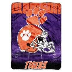 Clemson Tigers Micro Raschel Blanket