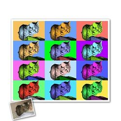 Personalized 12-Panel Pop Art Print