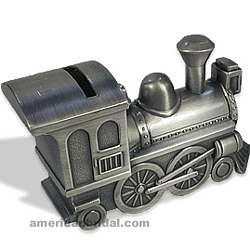 Pewter Train Bank for Ringbearer