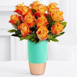 One Dozen Long Stemmed Summer Roses