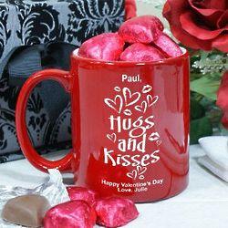 Hugs and Kisses Coffee Bistro Mug