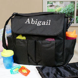 Embroidered Diaper Bag