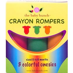 Crayon-Themed Romper Gift Set