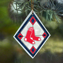 Boston Red Sox Art Glass Ornament