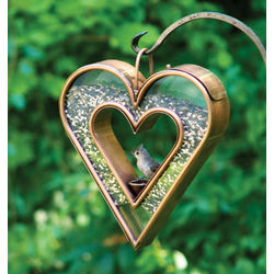 Fly Through Heart Bird Feeder