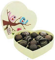 Valentine Organic Chocolate Truffle Birdie Box
