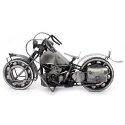 Rustic Warrior Bike Auto Parts Sculpture