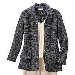 Misses Navy Tweed Jacket
