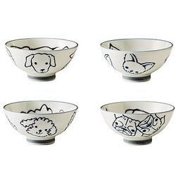 Ceramic Dog Print Bowls