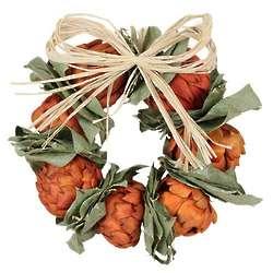 Orange Artichoke Wreath