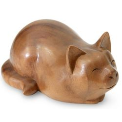 Kitty Cat Bliss Wood Sculpture