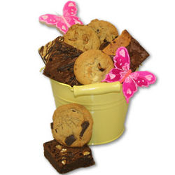 Bucket of Sunshine with Cookies and Brownies