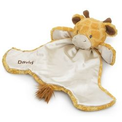 Personalized Giraffe Huggy Buddy Baby Blanket