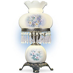 Frosted Glass Hurricane Lamp with Metal Alloy Rim