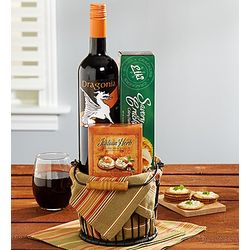 Sip and Savor Wine Gift Basket