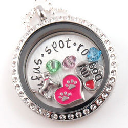 Dog Lover's Personalized Hand-Stamped Floating Glass Locket