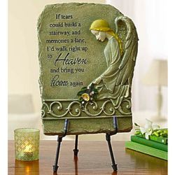 A Stairway to Heaven Remembrance Plaque with Easel