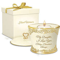 My Daughter, I Love You Porcelain Candle Gift Box Set