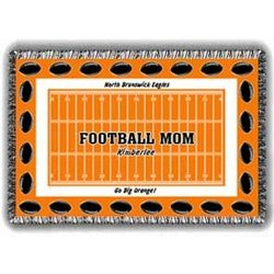 Mom's Personalized Football Afghan