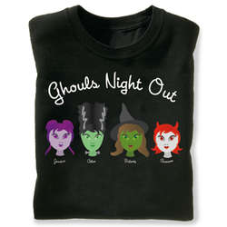 Halloween Personalized Ghouls Night Out Sweatshirt