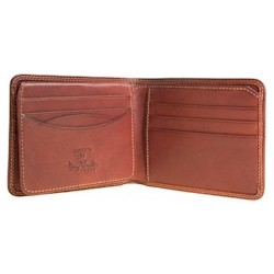Italian Leather Wallet with Removable Card Case