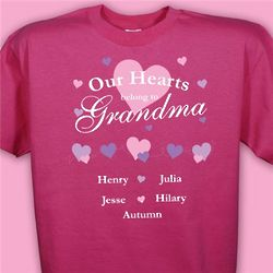 Personalized Our Hearts Belong To T-Shirt