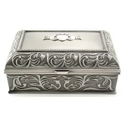 Large Pewter Claddagh Jewelry Box